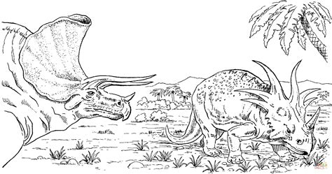 Styracosaurus and Triceratops coloring page   Free