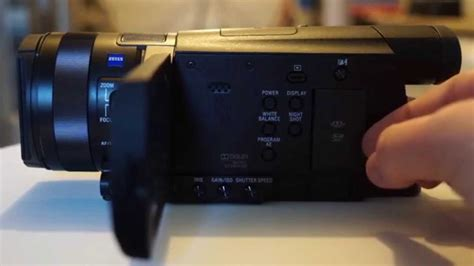 Sony AX100 4k Camcorder - A Review & Unboxing - YouTube