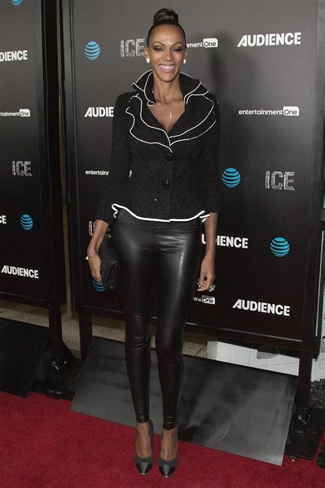 Judith Shekoni attends the premiere of AT&T Audience