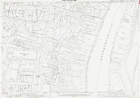 Old Ordnance Survey Map 240-3-17 Hull, Yorkshire in 1891