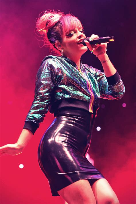 Lily Allen performs LIVE at Hurricane Festival - Leather