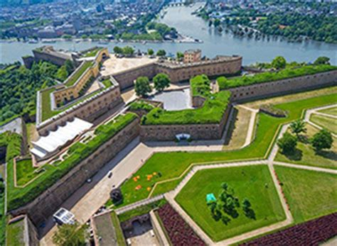 Hover over the Rhine to the Ehrenbreitstein Fortress