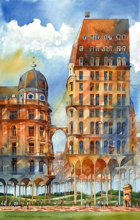 Surreal Watercolor Paintings Of Warsaw By Tytus Brzozowski