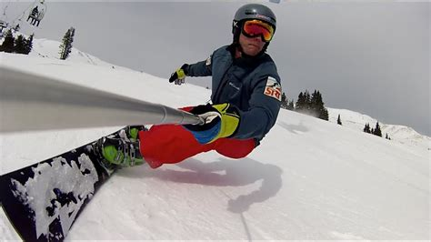 Loveland hard boot Carving with Donek snowboards - YouTube