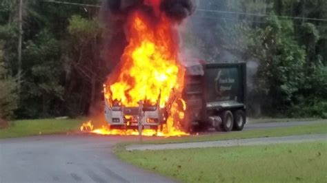 Garbage truck catches fire on Milton Bryan Road   News