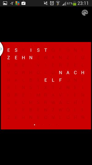 Holo Text Clock: Die etwas andere Uhr | Android User