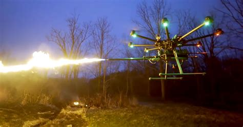 """Get Ready: """"Flamethrower Drones"""" Are About to Go on Sale"""