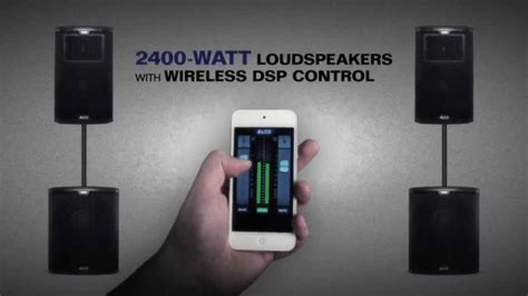 Alto Professional Black Series Loudspeakers with Wireless