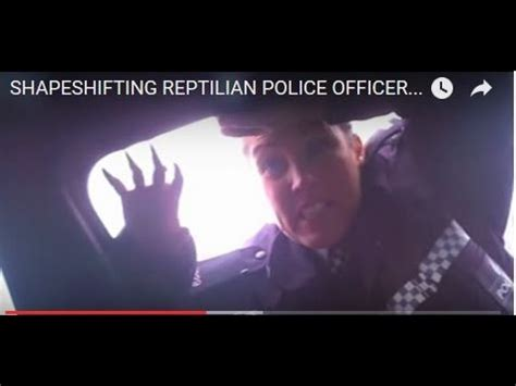 Reptilian police cuntstable caught shapeshifting Liverpool