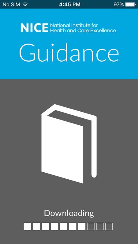NICE Guidance App, an evidence-based clinical guidelines