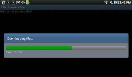 Android Download File With Progress Bar Example - Android