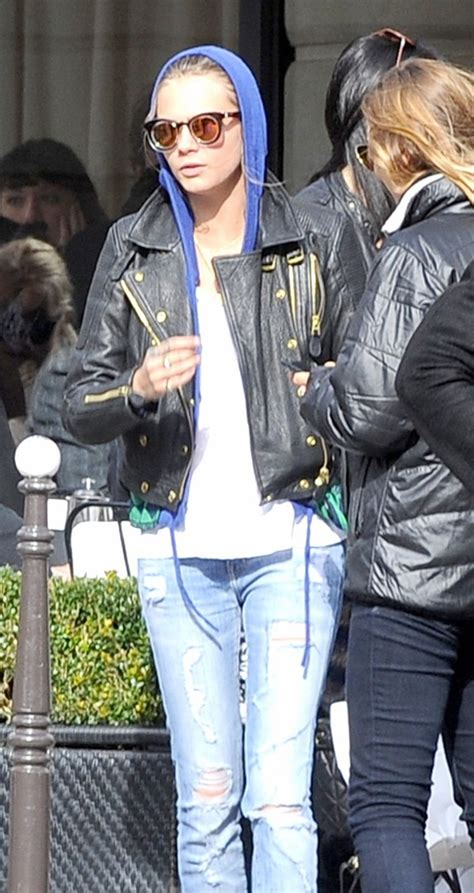 Cara Delevingne was Spotted in Current/Elliott Jeans
