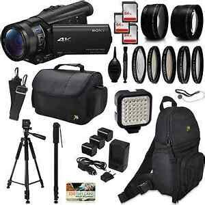Sony FDR-AX100 4K Ultra HD Camcorder w/ Accessories